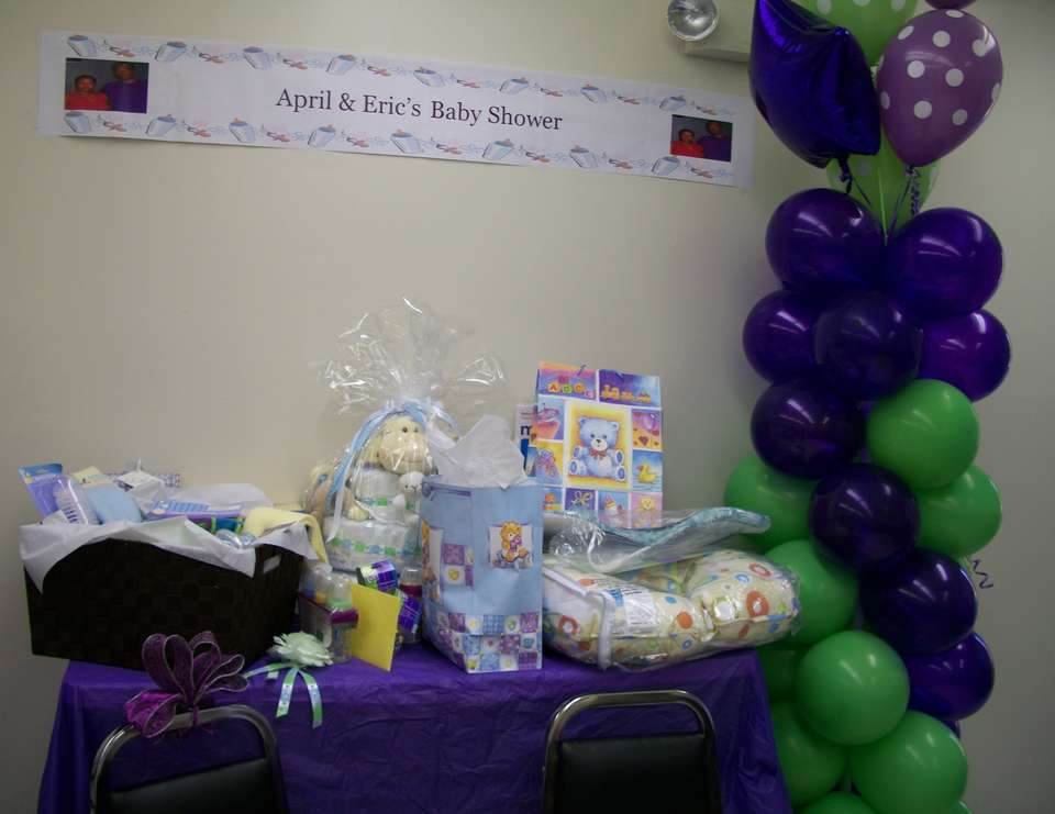 Couple's Baby Shower - Purple/Green