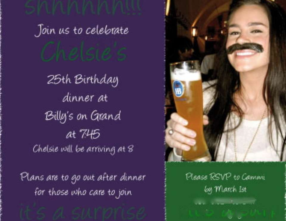 Chelsie's Surprise 25th Birthday Party - Purple and Green