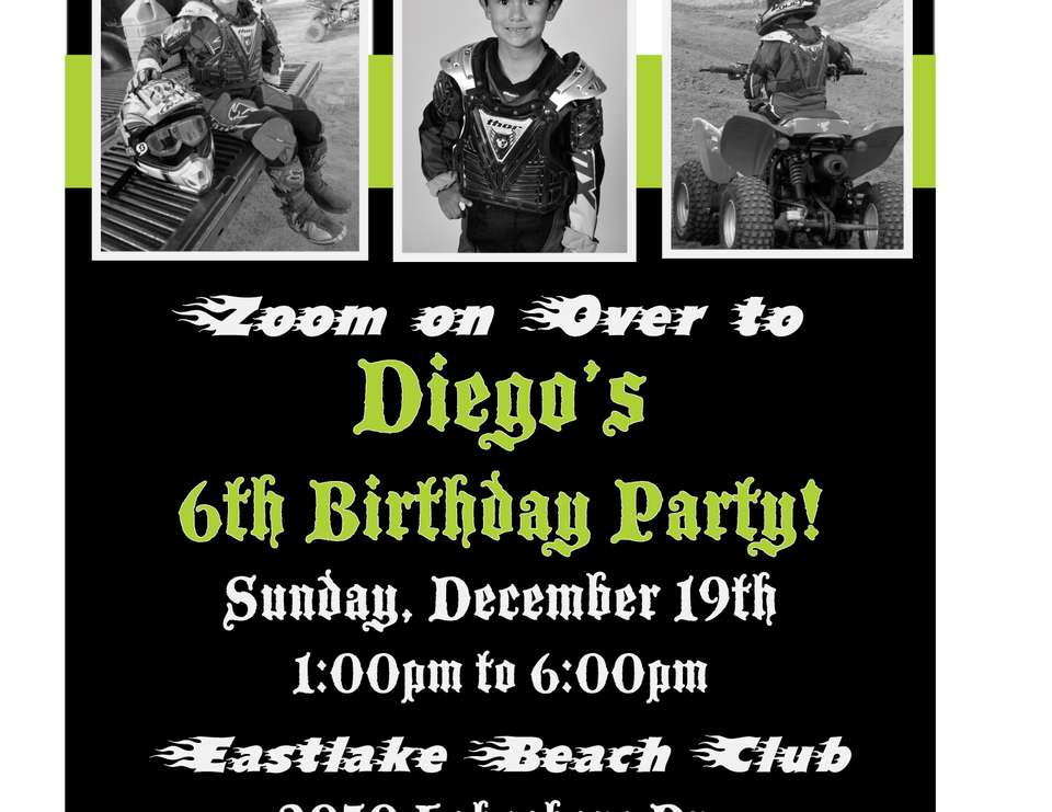 Diego's 6th Birthday Party - Motocross Party Theme