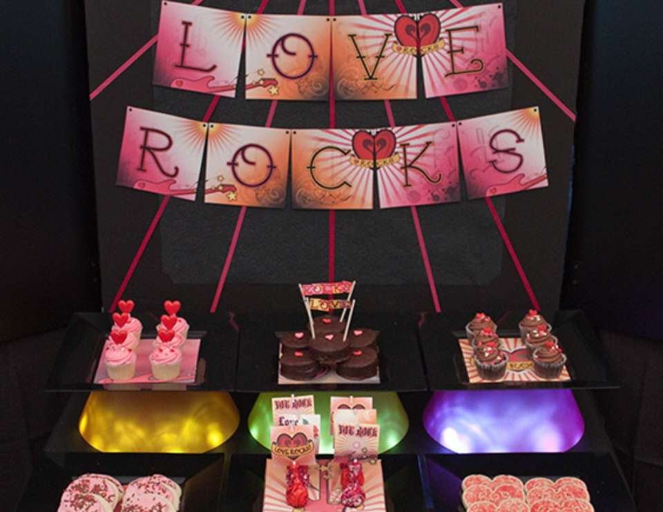 Love ROCKS! - {inspiration party} A Rockin' Valentine's Party
