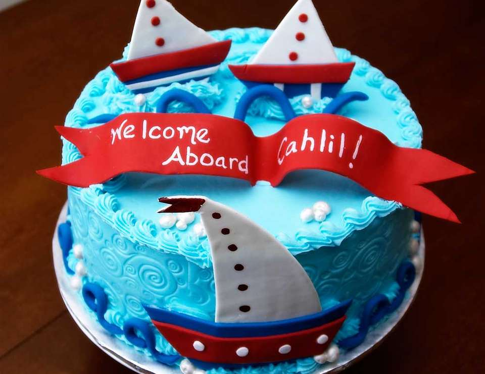 Ahoy!  It's A Boy! - Nautical-Baby Boy