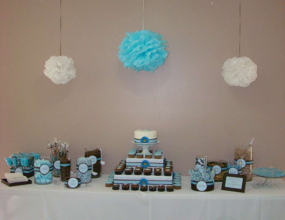 Bonachea Baby Shower - Blue & Chocolate Brown