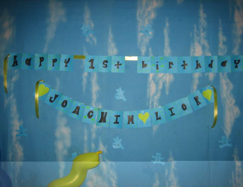 Joachim Lior's 1st Birthay Party! - Blue Bear Themed Party