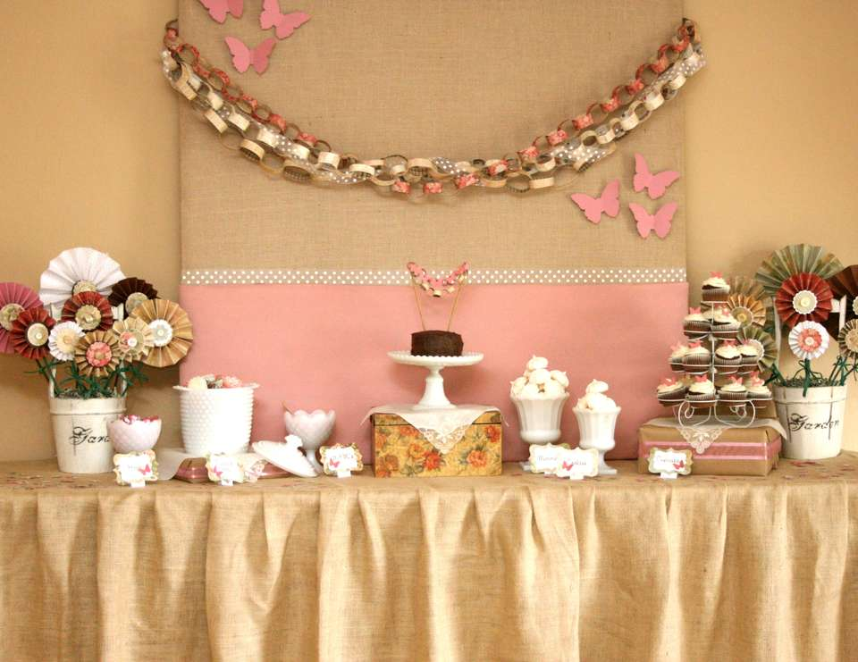 Butterfly Garden for Avery - Vintage Butterfly Party
