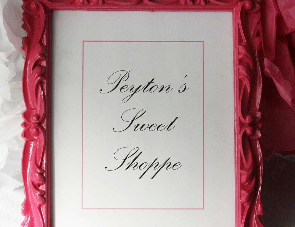 Peytons Sweet Shoppe Party - vintage sweet shoppe with a ballet twist