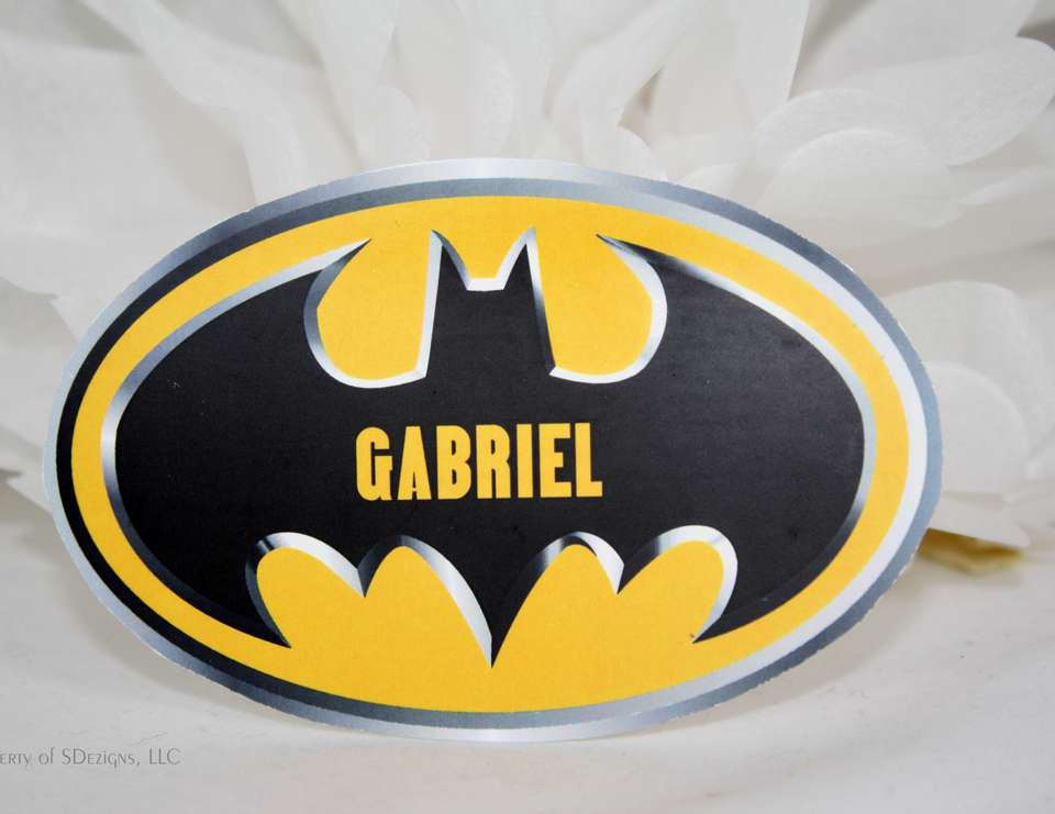 Gabriel's Super Hero 4th Birthday Party - Super Heroes:  Batman