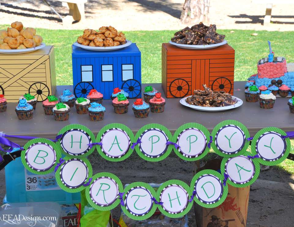 Travel Town Dessert Table - Trains