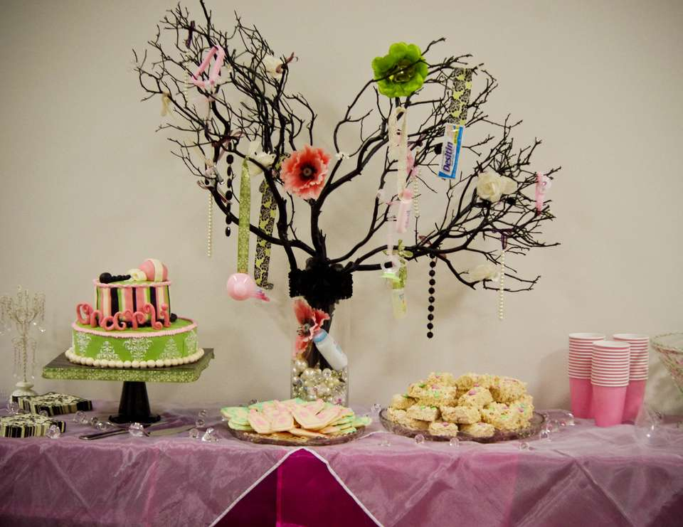 Office Baby Shower - Damask Chic