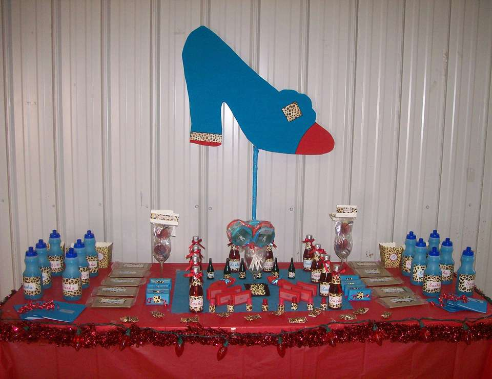 SASHA'S SWEET 16 BIRTHDAY - LEOPARD RED AND TURQUOISE