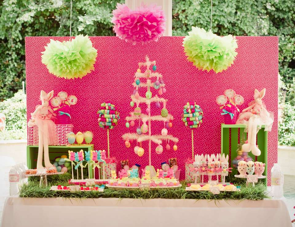Whimsical Pink/Green Easter Party - Easter