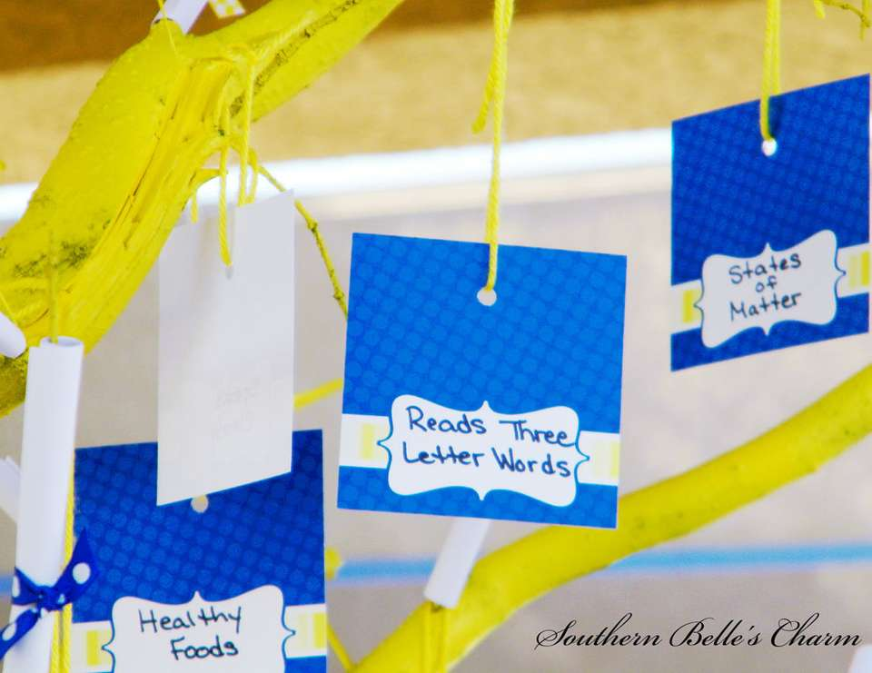 {Kindergarten Graduation} - Blue & Yellow