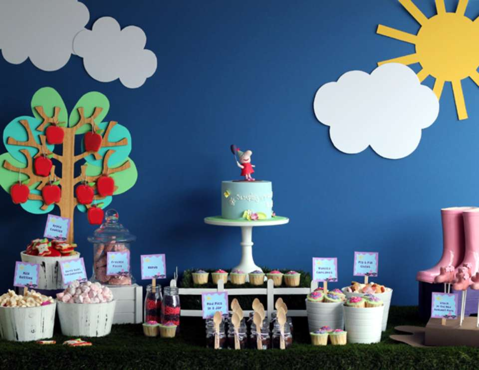 Peppa Pig Inspired Birthday Party - Peppa Pig Garden Tea Party