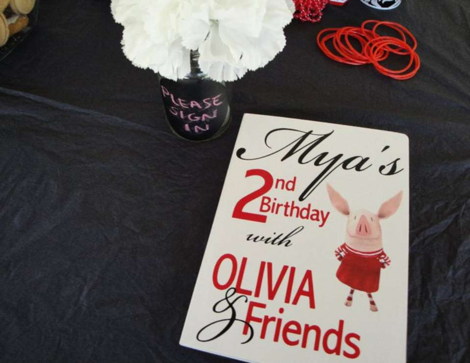 Mya's 2nd Birthday featuring Olivia - Olivia the Pig, Damask and Polka Dots