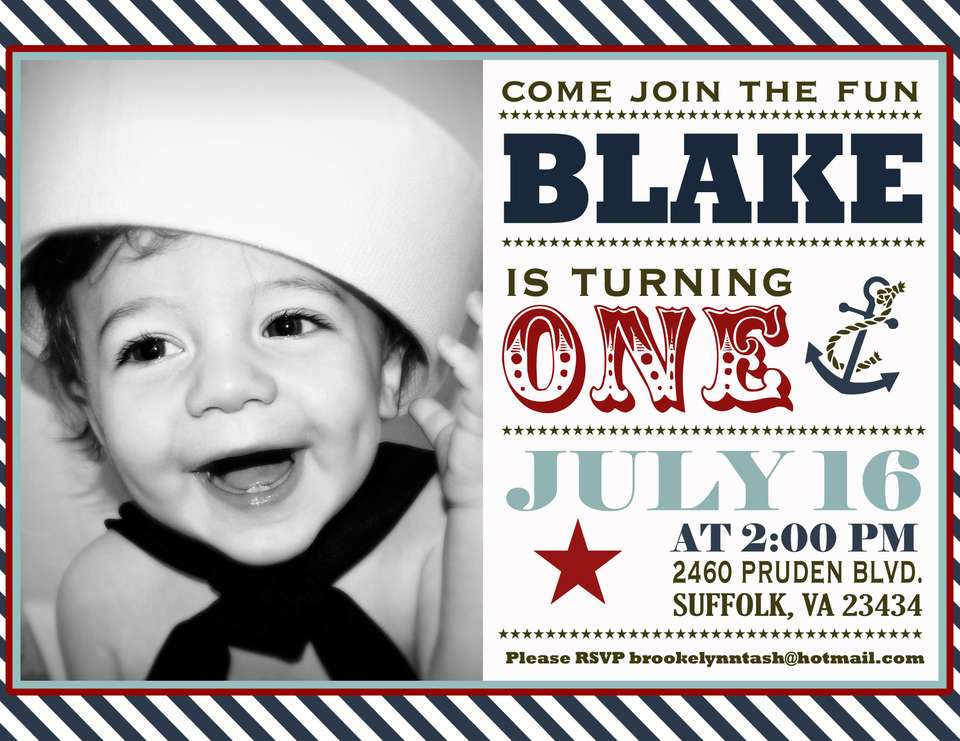 Blake's First Birthday! - Nautical