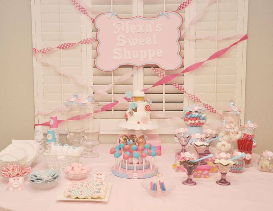 Alexa's Candy Shoppe Dessert Table - Candy Shoppe