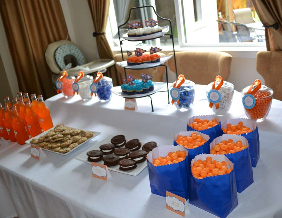 Jameson's 1st Birthday - blue + orange
