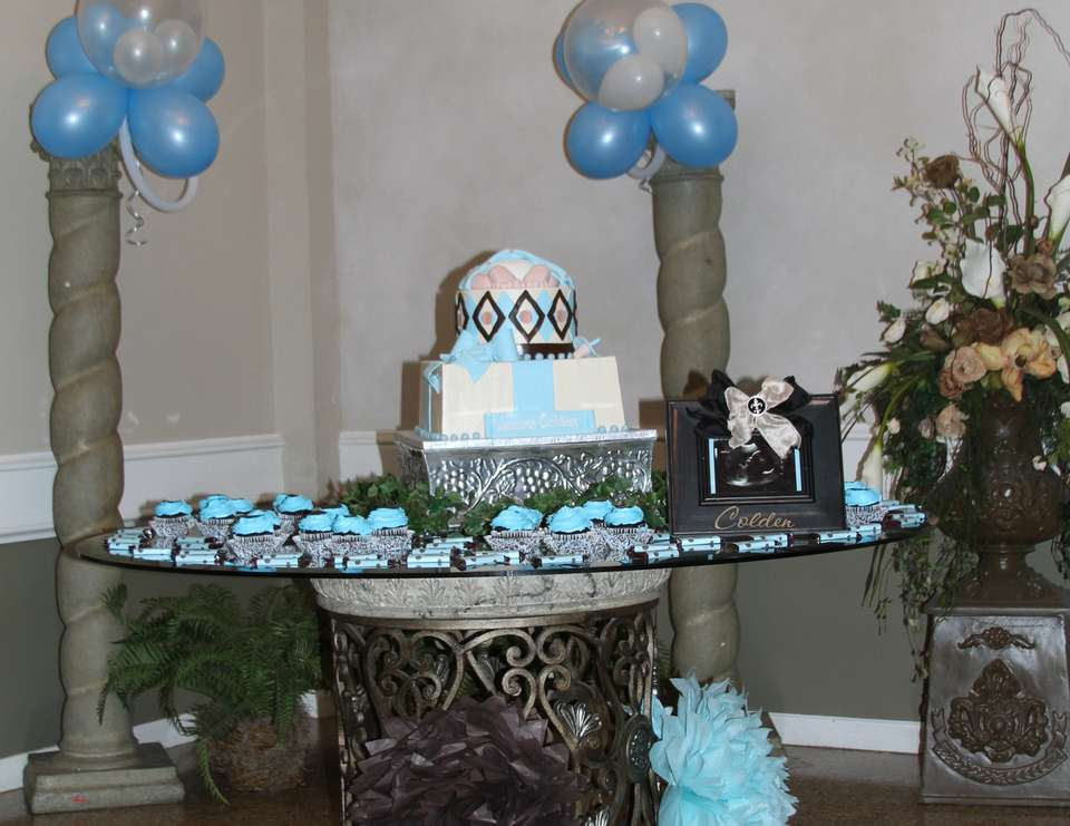 Colden Anthony's Baby Shower - Blue & Brown