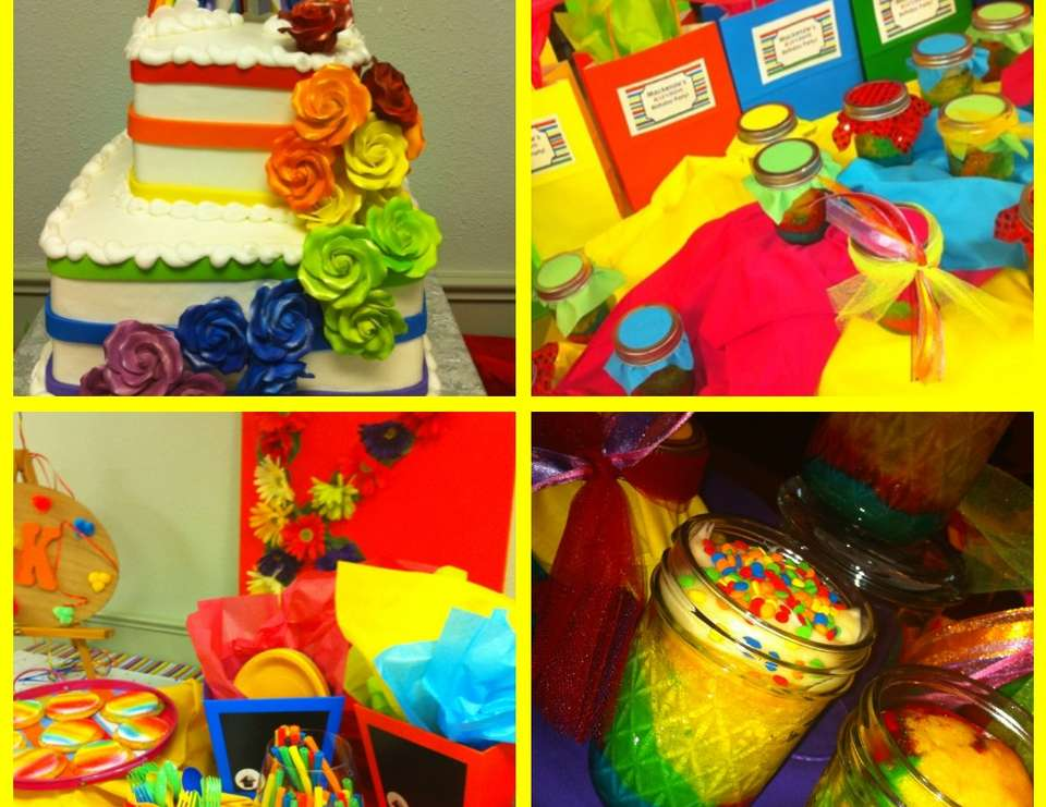 Rainbow Inspired Arts & Crafts Party - Rainbow