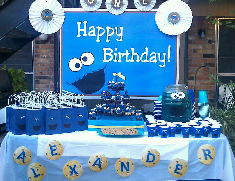 Cookie Monster Birthday P is for Party Catch My Party