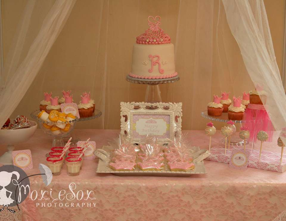 A Pink & Yellow Princess Tea Party - Princess Birthday Party