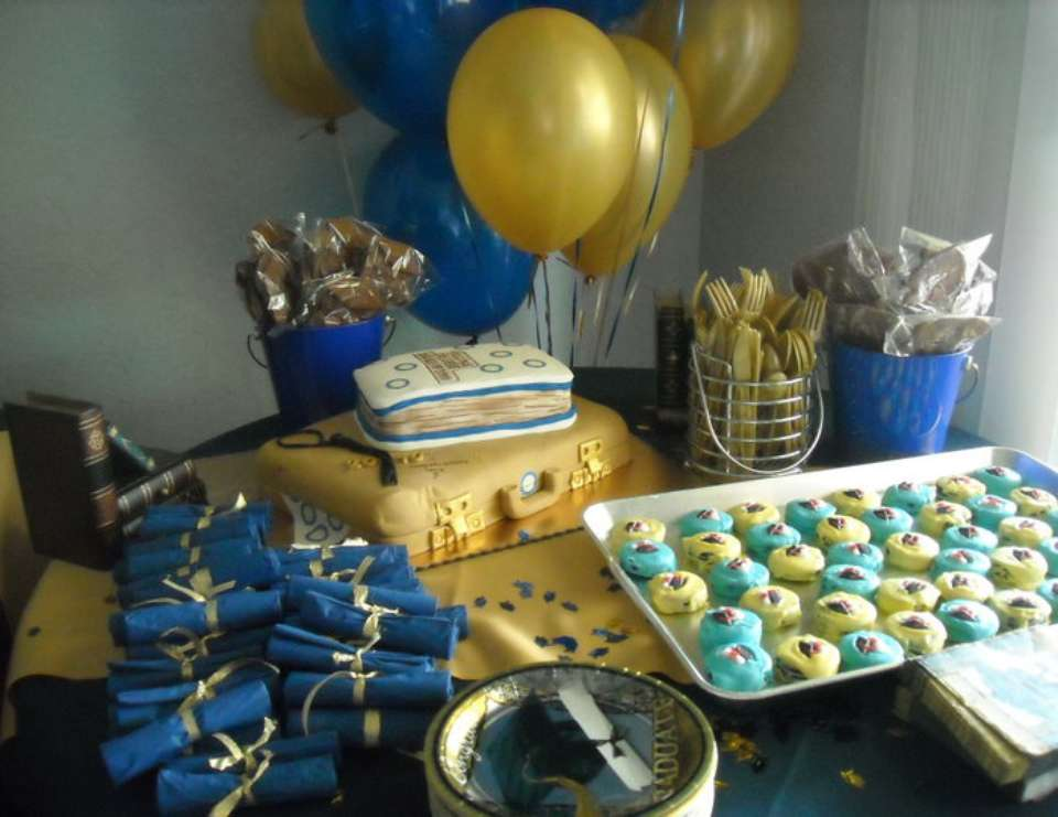 Gold and Blue Congrats - College Graduation