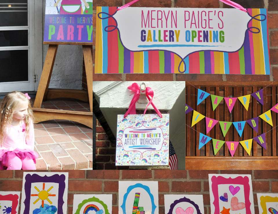 Meryn's Create + Celebrate Art Party - Arts & Crafts