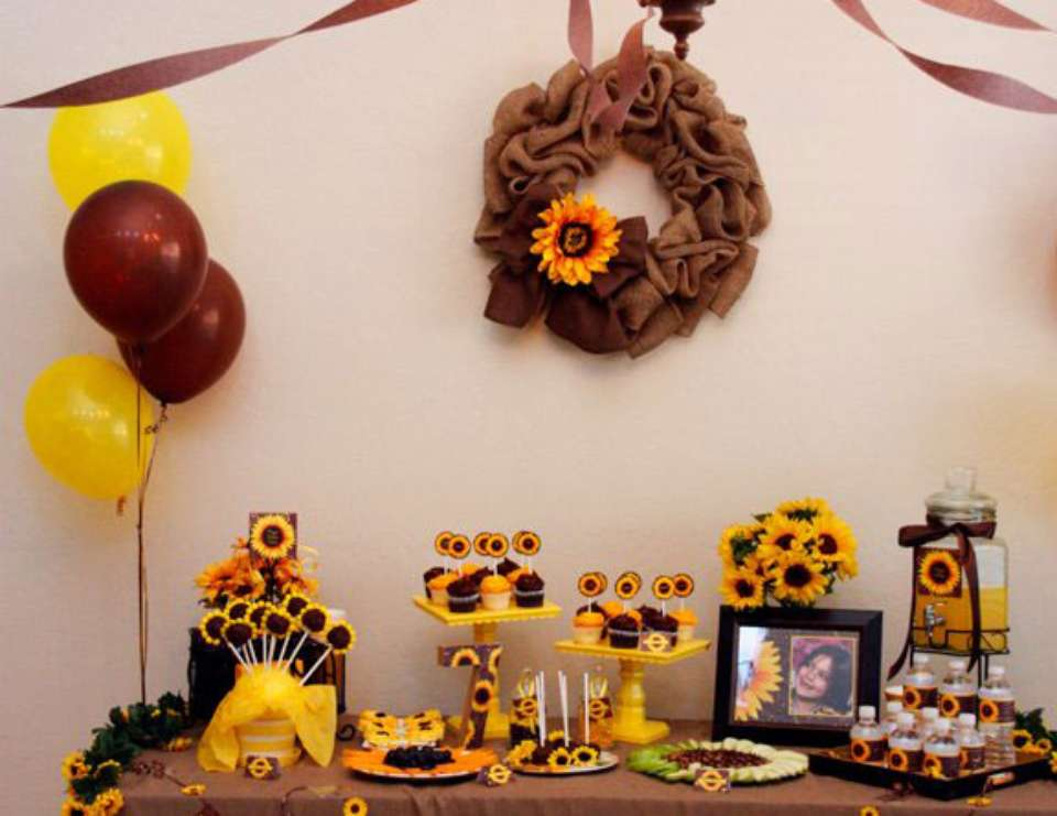Gianna's Sunflower 7th Birthday - Sunflowers, Burlap, Fall