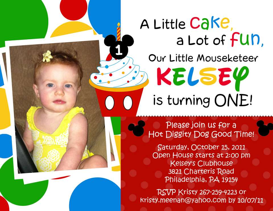 Mickey Mouse Clubhouse Or Minnie Mouse Birthday Kelsey Lynns - Minnie mouse birthday invitation message