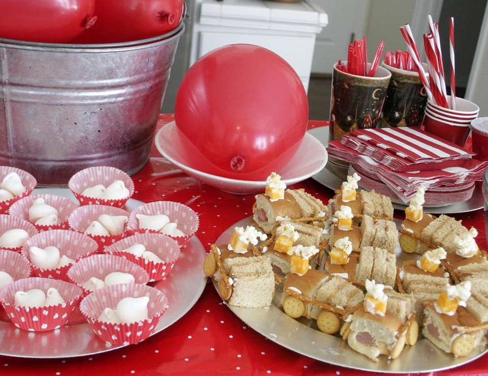 Polar Express Train Party - Polar Express Christmas Birthday Party