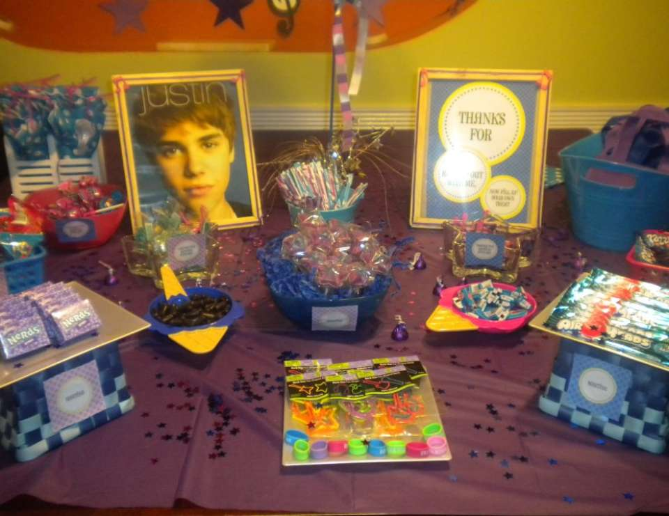 Martina's Rock Star party - Blue & Purple Justin Bieber