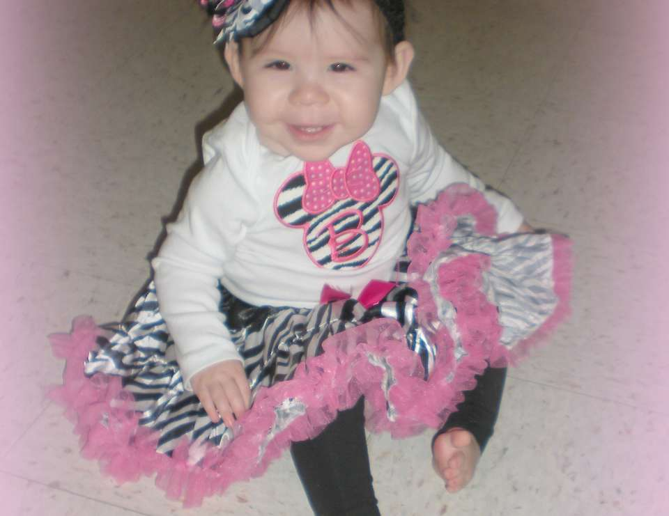 Brynlee's 1st Birthday - Minnie Mouse Zebra/Hot Pink