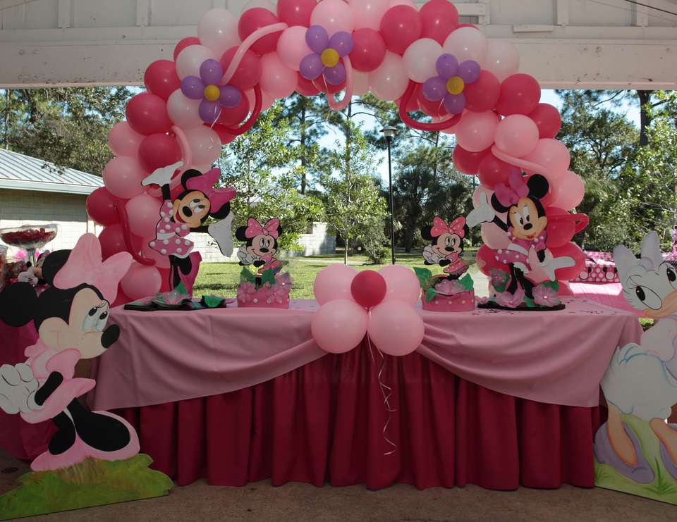 Kayleighs minnie mouse 1st bday - Minnie Mouse