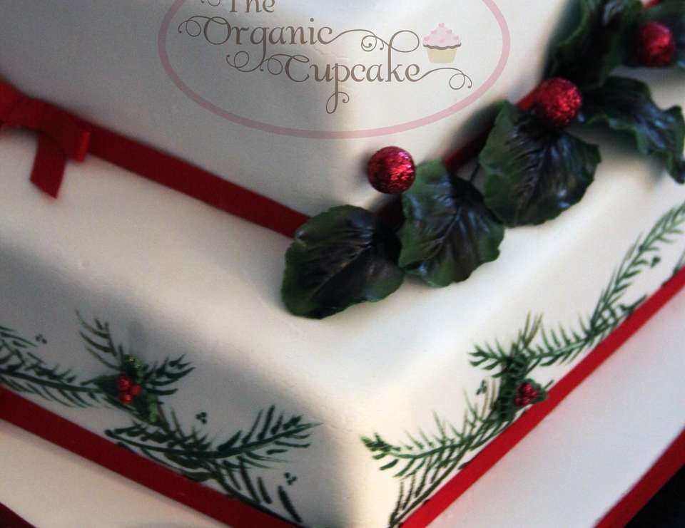 Christmas themed 70th Birthday cake - Christmas