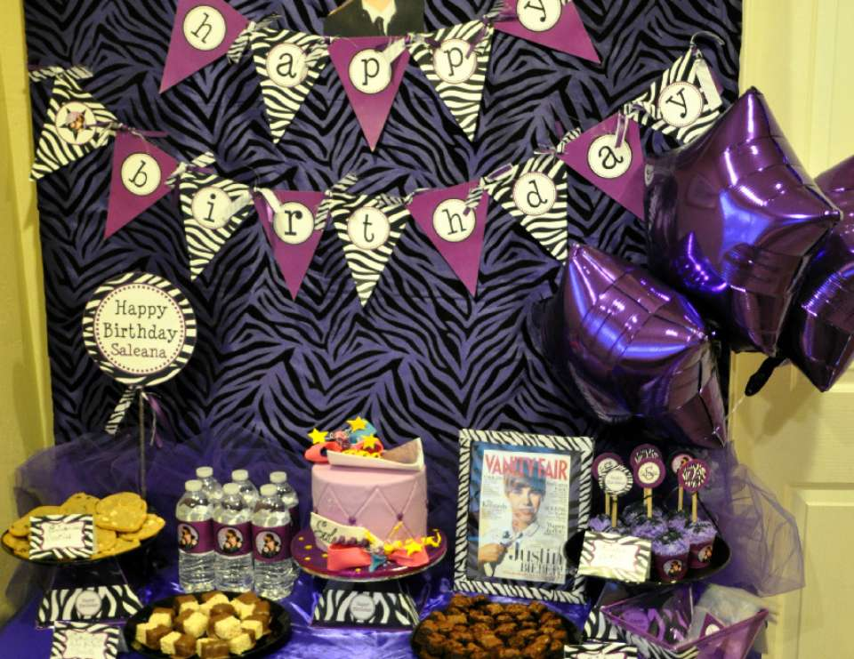 Saleana's 16th Birthday Party  - Justin Bieber