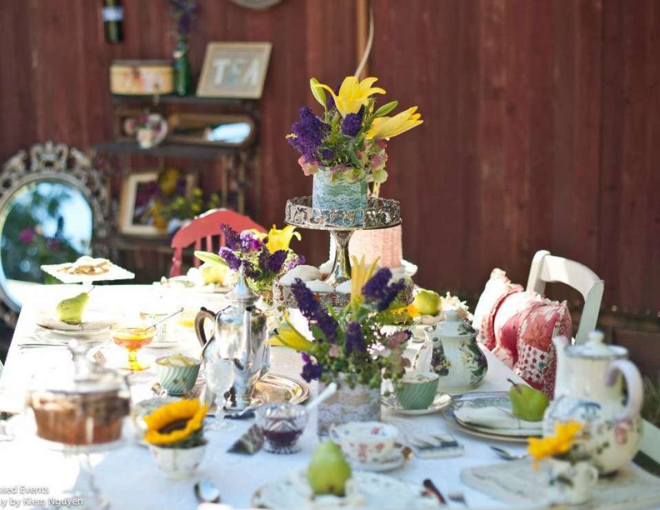 Scrabble Tea Time Party - Vintage Tea Garden Party