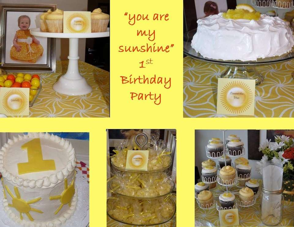 You Are My Sunshine, First Birthday by A Charming Fête  - You Are My Sunshine, Yellow