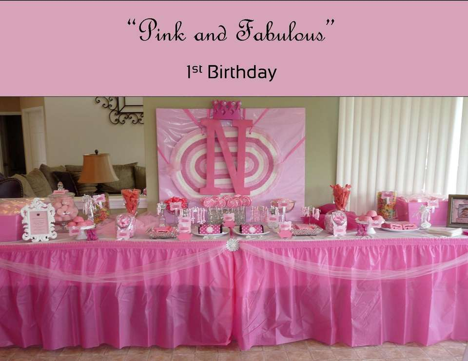 Pink and Fabulous 1st Birthday, by A Charming Fête - Pink and Fabulous 1st Birthday Party