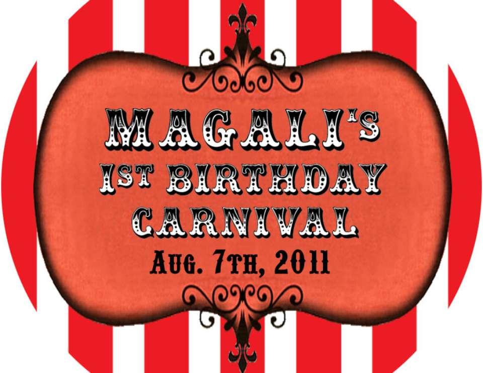 Magali's 1 st Birthday Carnival - carnival party