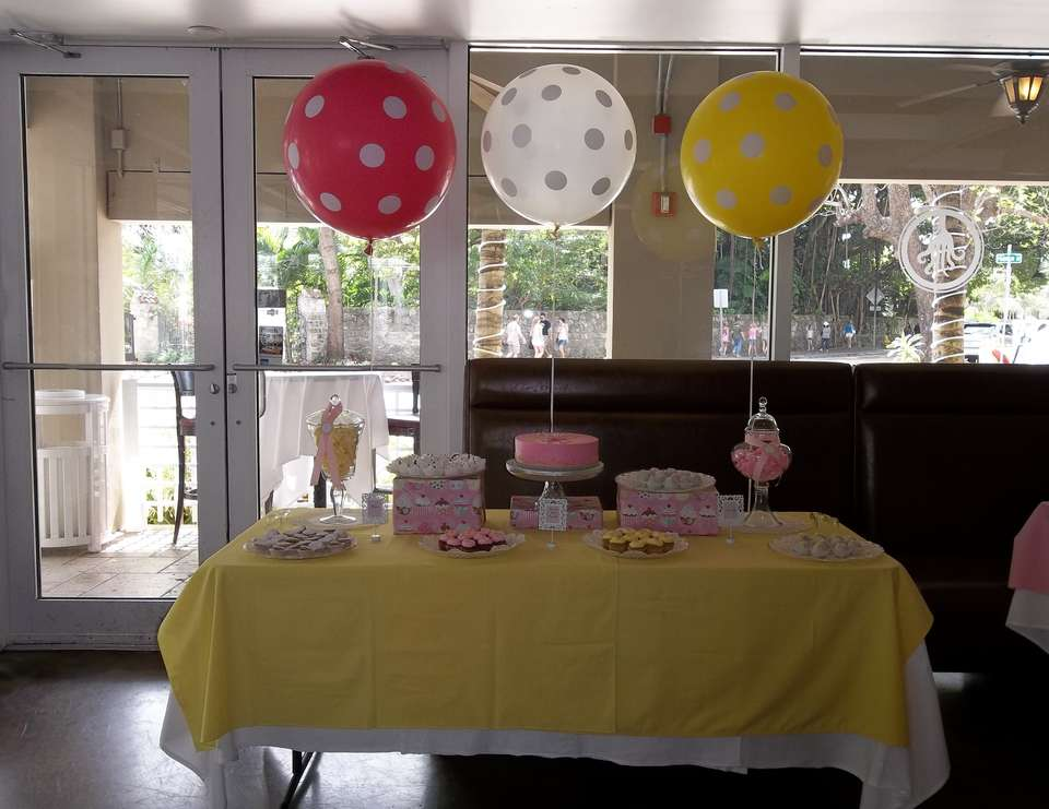 Sienna's Baptism Reception - Pink, yellow, owls
