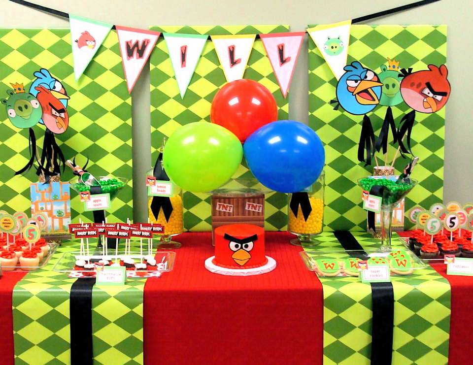 Will's 5th Birthday - Angry Birds
