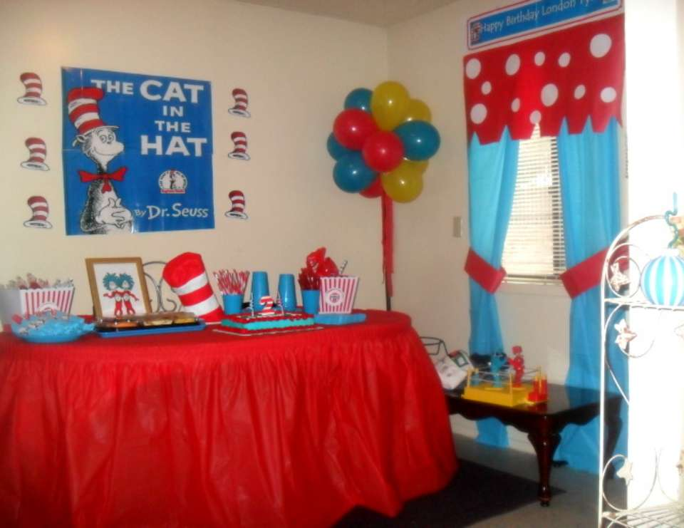 London Tyler 2nd Birthday Party Dr Seuss Style