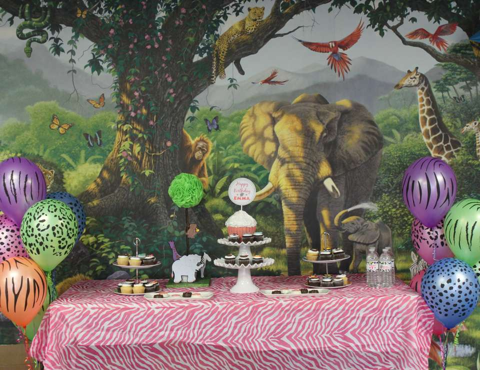 Neon Jungle Party - Neon Animal Print, Girl's Jungle Party