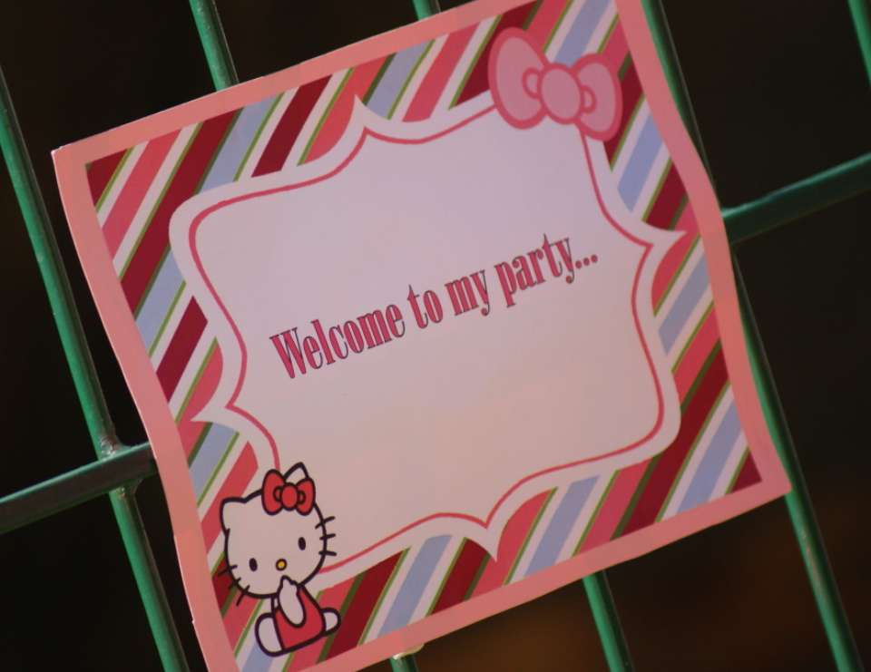Skylar's First Birthday Party - Hello Kitty