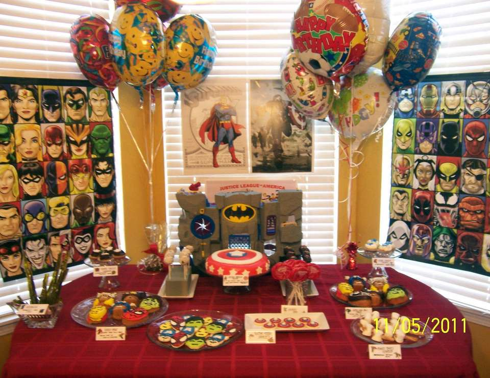Super Hero Sweet Table - My son's birthday
