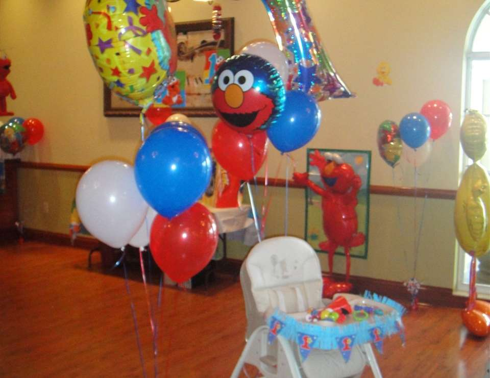 Jayden's Elmo 4th of July 1st Birthday - Elmo and Red, White & Blue
