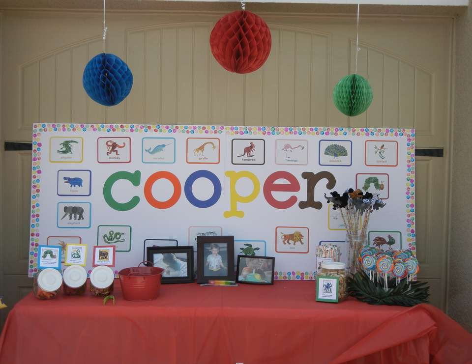 Cooper's 3rd Birthday - Author Eric Carle's All About Animals-Themed Party