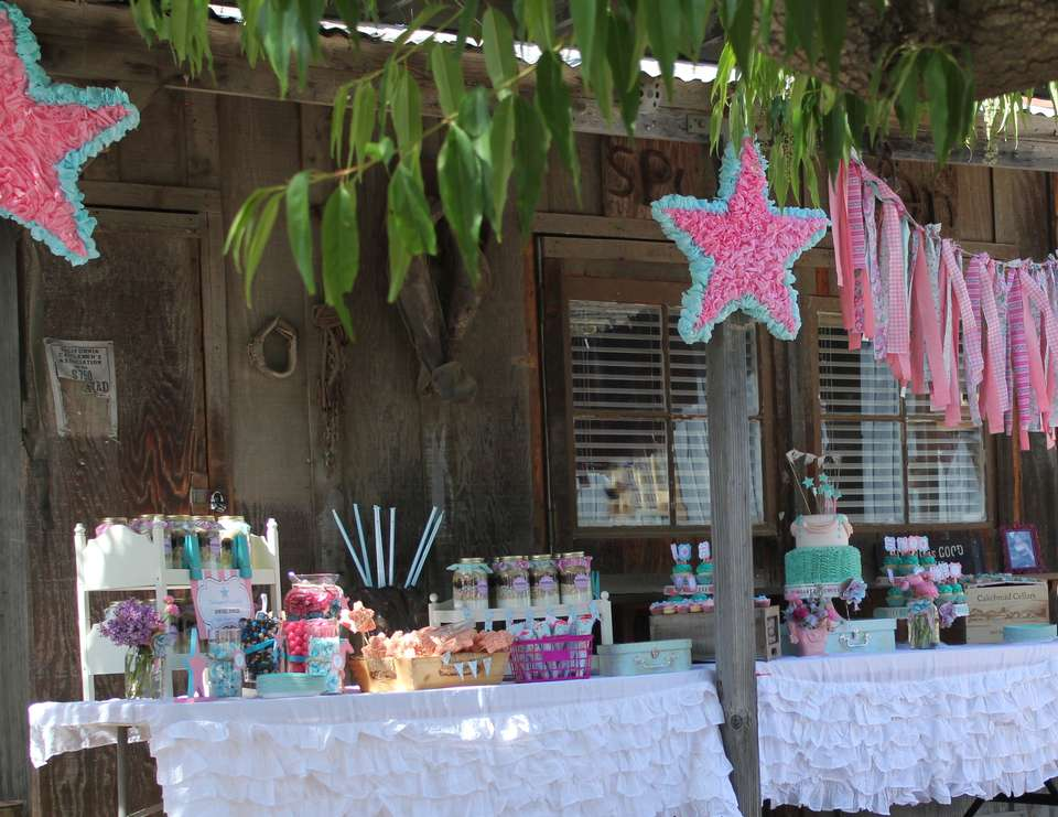 Talia's Shabby chic cowgirl party - Vintage shabby chic cowgirl party