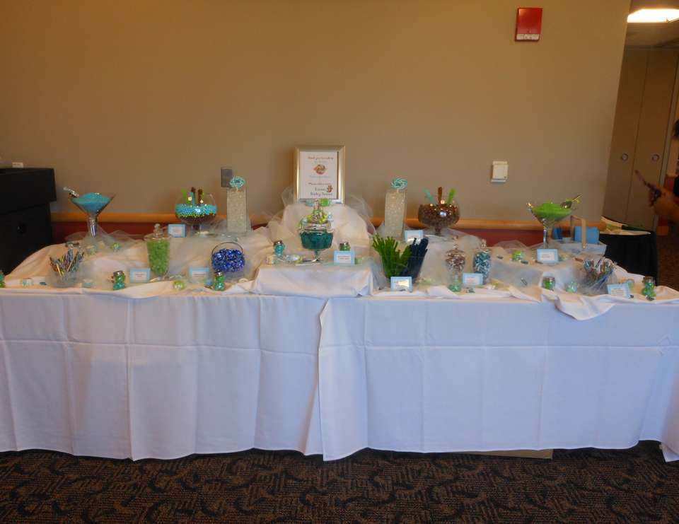 Welcome baby Isaac - Brown and Green Bear Themed shower