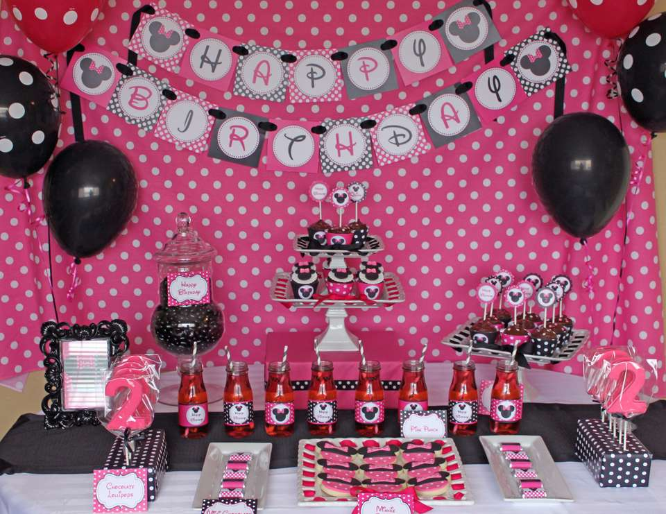 Quinns Minnie Mouse 2nd Birthday Party