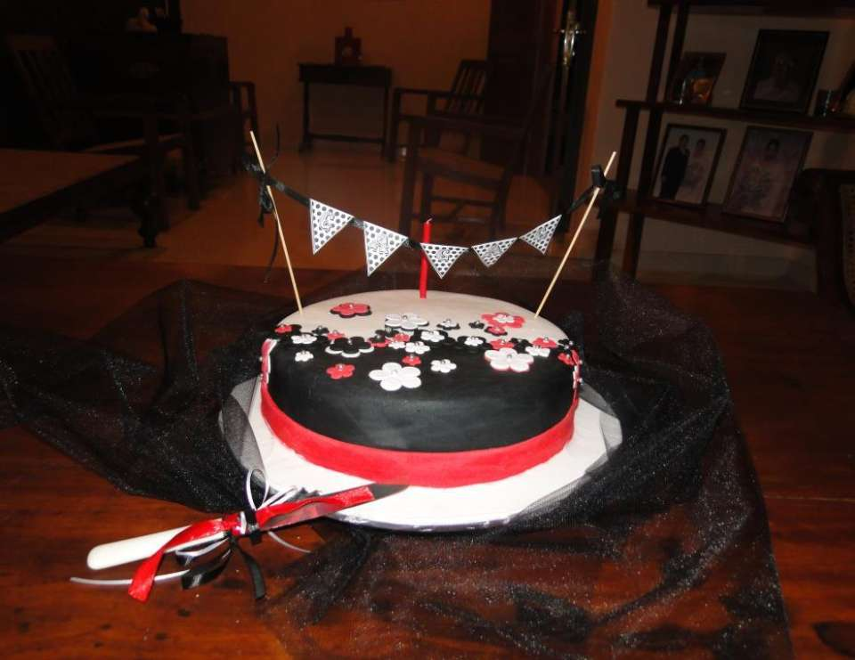 Combined party for a 40s something and 6th - Black, White with a touch of Red